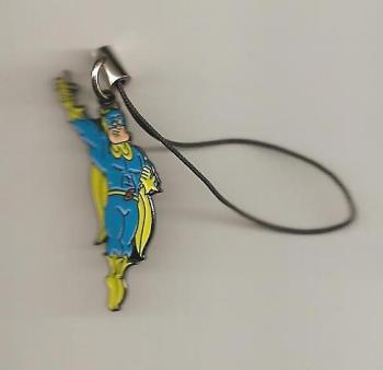 Bananaman Mobile Phone Charm / Tag - Flying - NEW