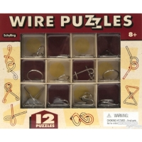 Classic Wire Puzzles - Set Of 12 - NEW