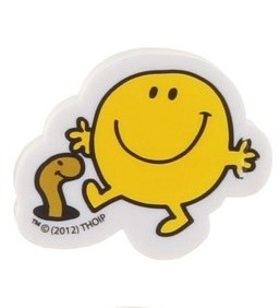 Mr Men - Mr Happy Shaped Eraser - NEW
