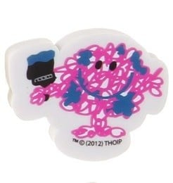 Mr Men - Mr Messy Shaped Eraser - NEW