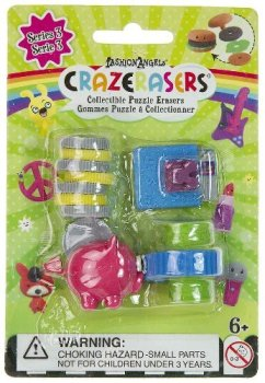 Crazerasers - Set Of 4 Puzzle Erasers - Buying Power - NEW