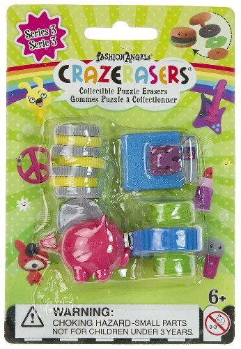 Crazerasers - Set Of 4 Puzzle Erasers - Buying Power - NEW