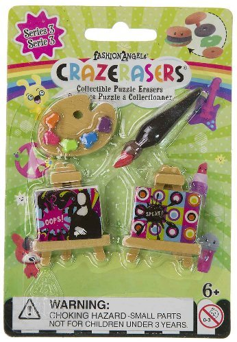Crazerasers - Set Of 4 Puzzle Erasers - Master Painter - NEW