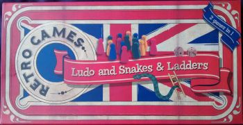 Ludo And Snakes & Ladders Games - Retro Style Box