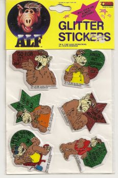 ALF Glitter Stickers - Set Of 6 [Design 2] - NEW