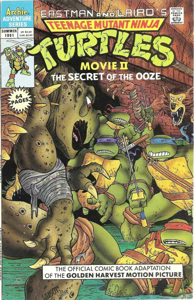 - Teenage Mutant Ninja Turtles II : The Secret Of The Ooze - Movie Adaptati