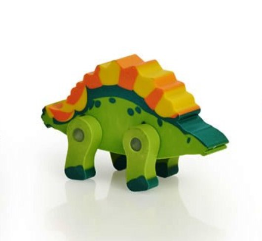 Dinosaur Eraser With Movable Legs - NEW