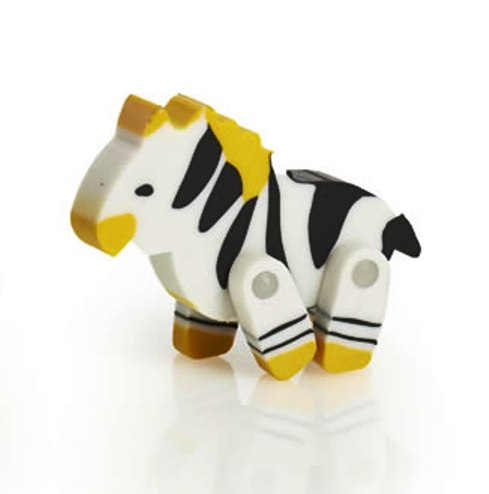 Zebra Eraser With Movable Legs - NEW