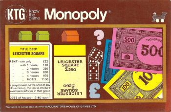 Know The Game : Monopoly - Ron Scales - 1978