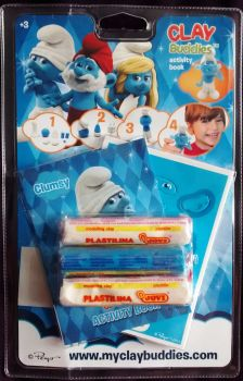 Clay Buddies - The Smurfs : Clumsy Smurf - 2013 - NEW
