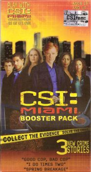 CSI : Miami Booster Pack (Compatible With CSI : Miami Boardgame) - NEW