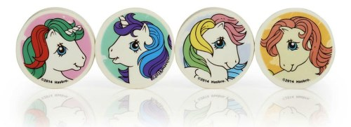 My Little Pony Erasers - Set Of 4 - NEW