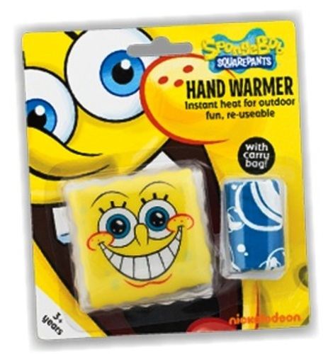SpongeBob SquarePants Hand Warmer With Carry Bag - NEW