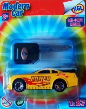 Modern Car (Burnin' Key Car Clone) - Yellow - NEW