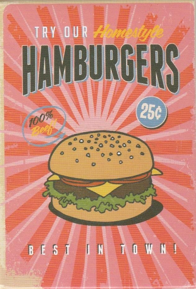 Retro Style Magnet - Hamburgers - NEW