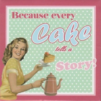 Vintage Style Magnet - Because Every Cake Tells A Story - NEW