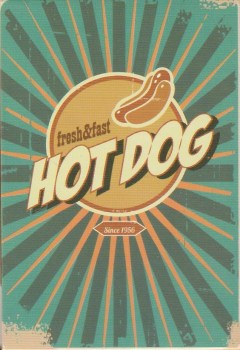 Retro Style Magnet - Hot Dog - NEW