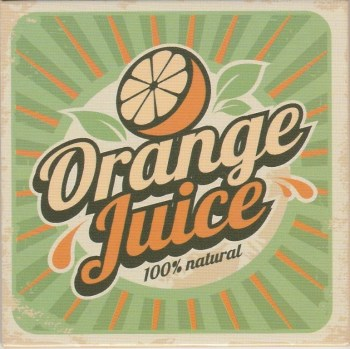 Retro Style Magnet - Orange Juice - NEW