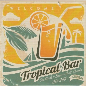 Retro Style Magnet - Tropical Bar - NEW