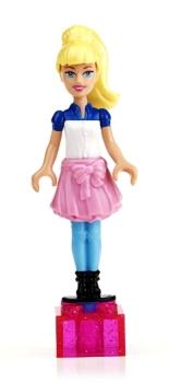 Barbie Mega Bloks Minifigure - Fall Fashion Barbie - NEW
