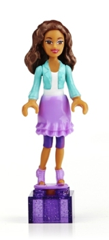 Barbie Mega Bloks Minifigure - On-The-Go Nikki - NEW