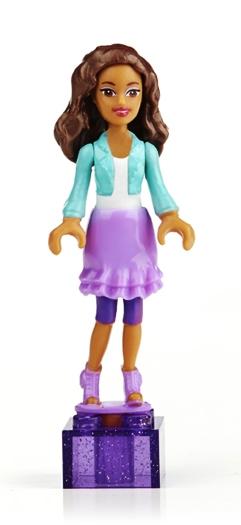 Barbie Mega Bloks Minifigure - On-The-Go Nikki - NEW