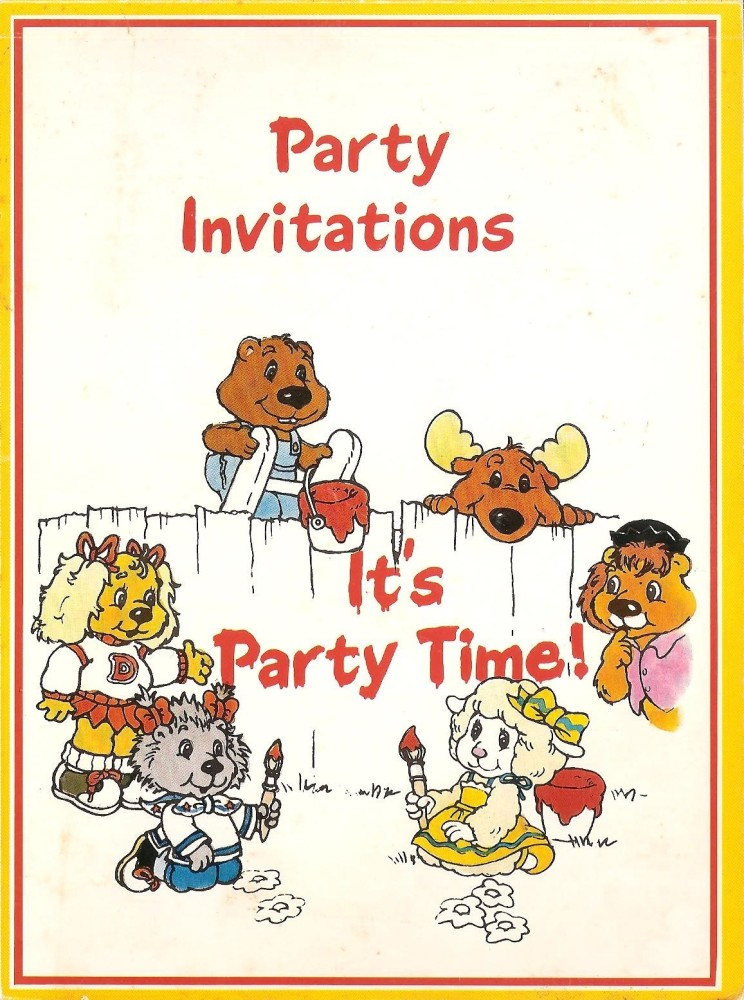 - Get Along Gang - Party Invitations - Book Of 28 - 1985