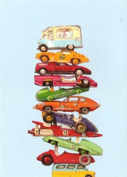 "Retro / Vintage Toy Cars - ""Autostack With Ice Cream"" - Art Print - NEW"