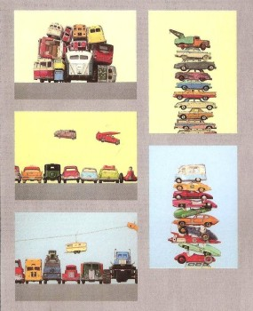 Retro / Vintage Toy Cars - Art Prints - Set Of 5 - NEW