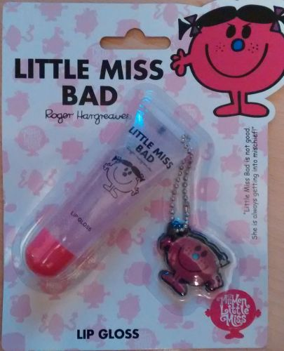 Little Miss Bad - Lip Gloss With Free Charm - NEW