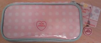 Swizzels Matlow - Love Hearts Cosmetic Bag With Brushes And Free Charm - NEW