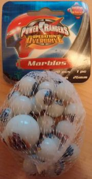 Power Rangers Operation Overdrive - Glass Marbles - 2008 - NEW