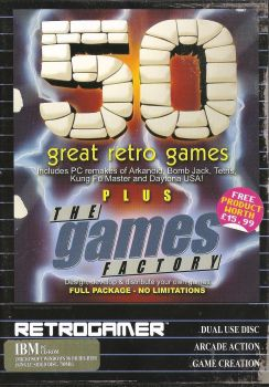 Retro Gamer Magazine Cover Disc - 50 Great Retro Games + The Games Factory - 2004