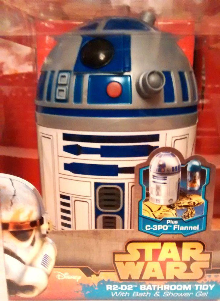 Star Wars R2d2 3d Bubble Bath Tidy Set New