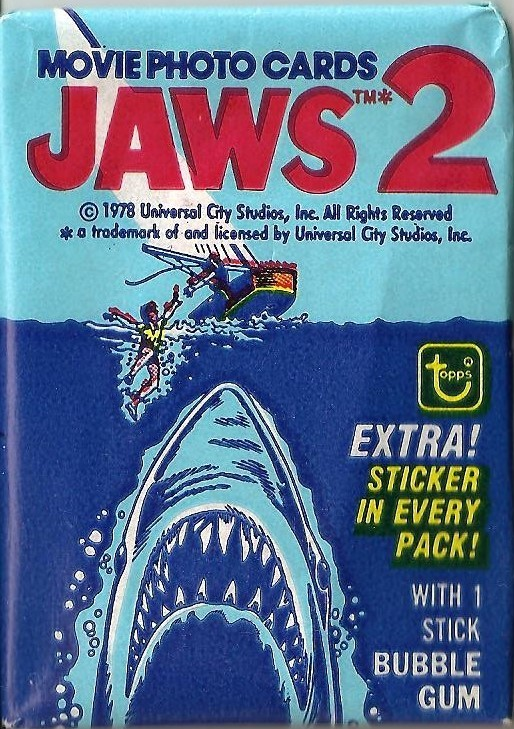 Jaws 2 - Movie Photo Cards And Stickers - 1978 - NEW