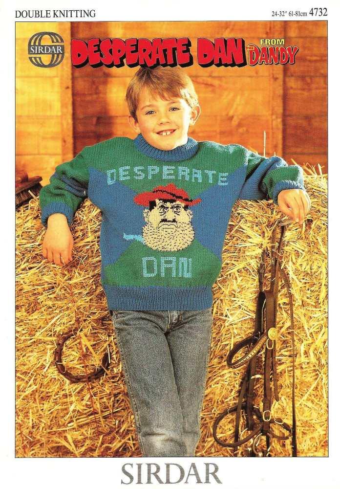 Dandy - Desperate Dan Jumper / Sweater Knitting Pattern - NEW