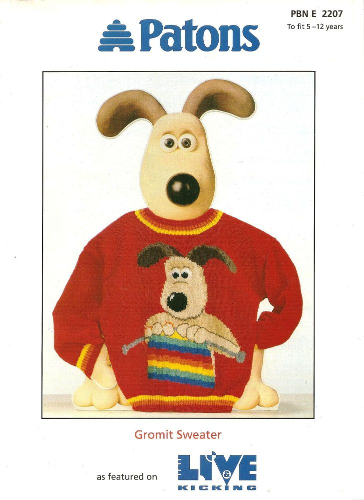 Wallace And Gromit - Gromit Jumper / Sweater Knitting Pattern