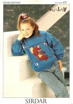 Tom And Jerry - Jerry - Jumper / Sweater Knitting Pattern - NEW