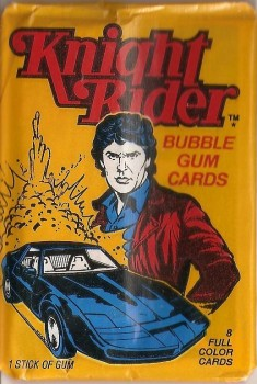Knight Rider Bubble Gum Cards - NEW
