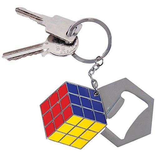 Rubik's Cube Bottle Opener Keychain / Keyring - NEW