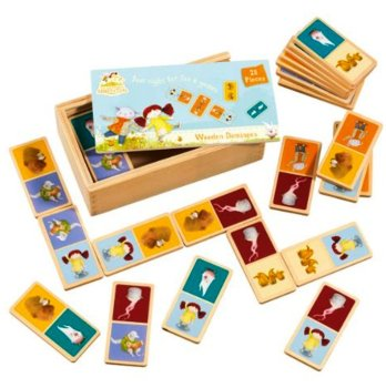 The Adventures Of Abney & Teal - Wooden Dominoes - NEW