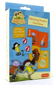 The Adventures Of Abney & Teal - Matching Numbers 20 Piece Card Game - NEW