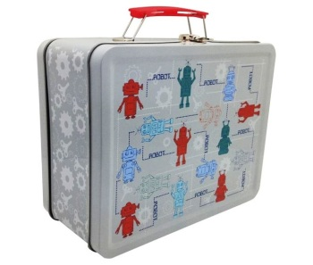 Robot - Retro-Style Tin Tote Lunch Box - NEW