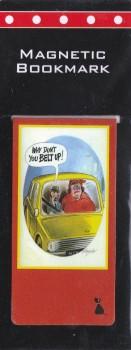 Bamforth Cheeky Postcard Magnetic Bookmark - Belt Up - NEW