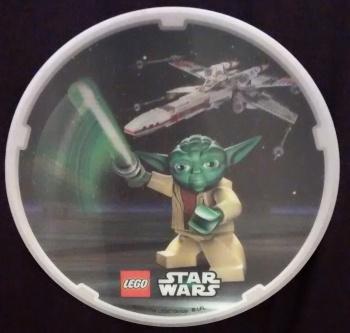 LEGO Star Wars Lenticular Coaster - Yoda And X-Wing Starfighter - NEW