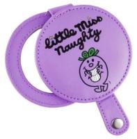 Little Miss Naughty Compact Mirror - Purple - NEW