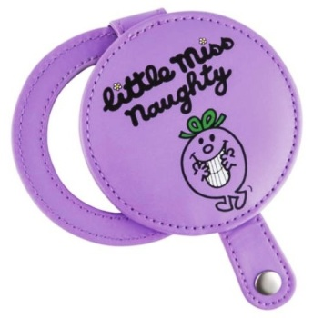 Little Miss Naughty Compact Mirror - Purple - NEW