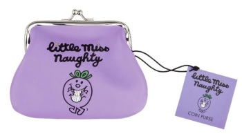 Little Miss Naughty Coin Purse - Purple - NEW