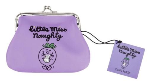 Little Miss Naughty Coin Purse - Purple - NEW