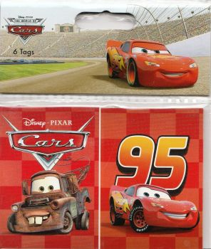 Cars - Gift Tags - Set Of 6 - Pixar - NEW